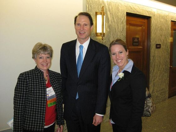 Shirley Lyons (left), Senator Ron Wyden (center), & Toviana Jackson (right)