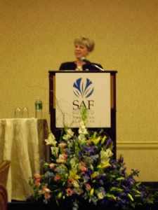 Shirley...always talking at SAF meetings!