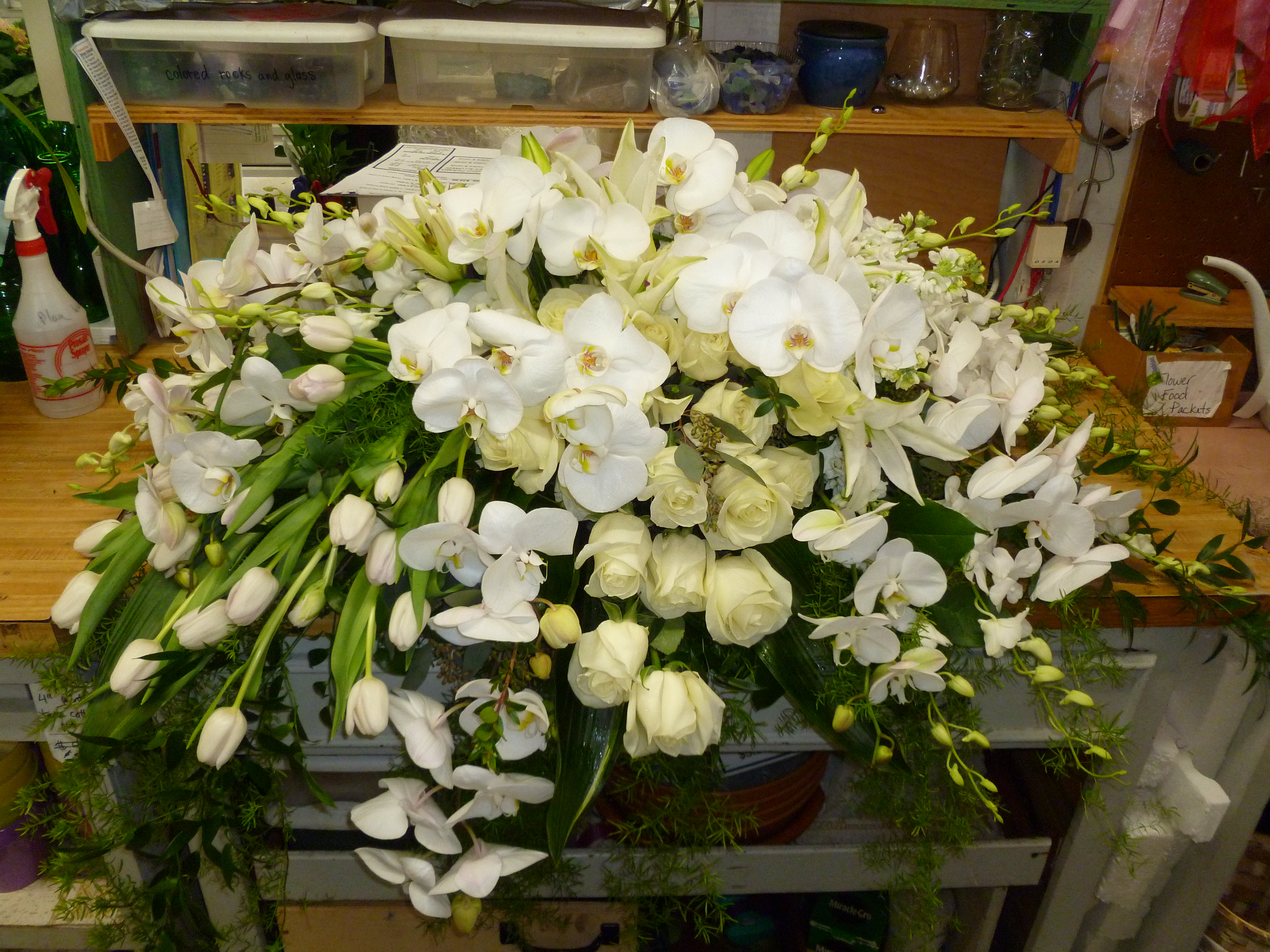 Memorial service funeral flowers dandelions flowers gifts rate this izmirmasajfo Image collections