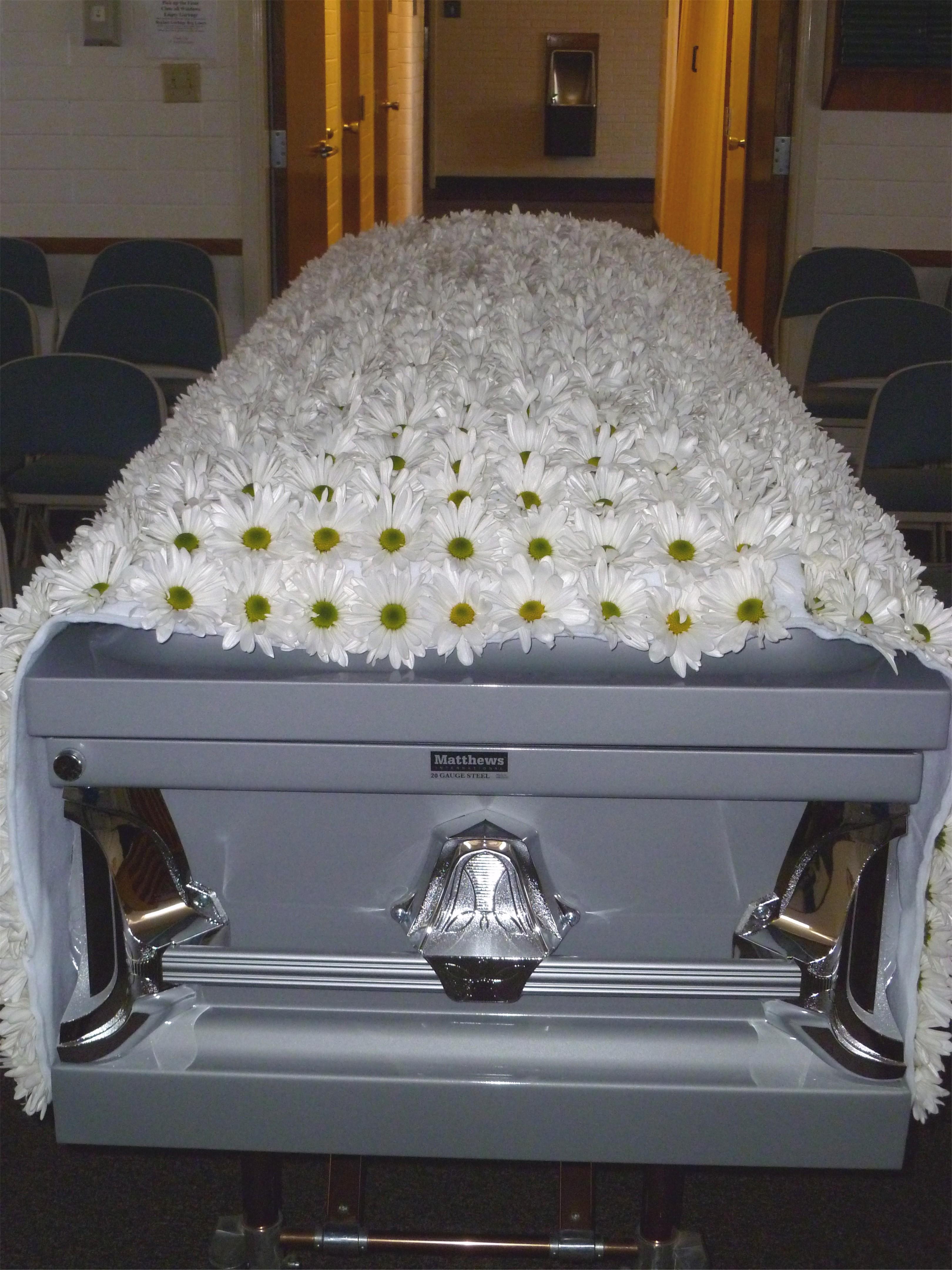 Custom funeral flowers dandelions flowers gifts casket blanket izmirmasajfo