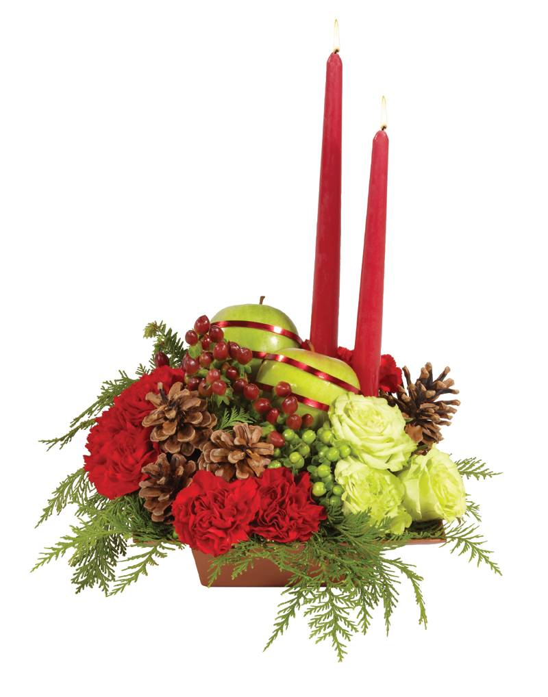 Holiday centerpiece dandelions flowers gifts