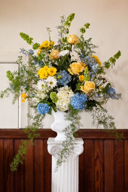 Altar wedding flowers