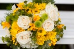 yellow, green and white wedding flowers