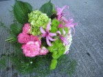 pink and green wedding flowers eugene