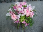 stunning pink wedding bouquet
