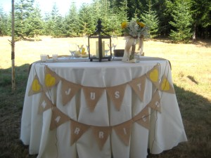 Burlap banner Just Married