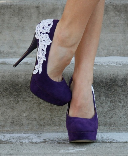 purple wedding shoes
