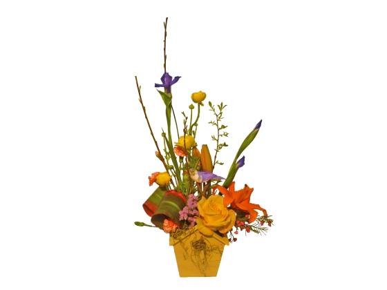 birdhouse bouquet