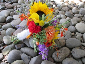 locally grown flowers bridal bouquet