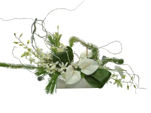 contemporary christmas flower arrangement