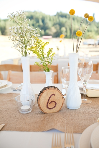 milk glass budvases country wedding