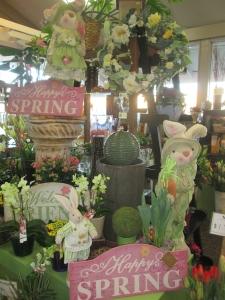 spring at dandelions