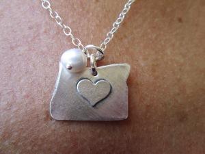 Oregon love necklace