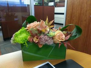 modern flowers for the office