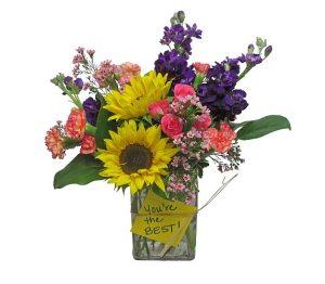 cheery office flowers