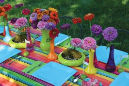 bright party centerpiece