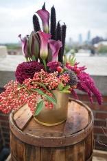 wine barrel flowers